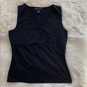 INC Black Sleeveless Nylon/Spandex Top Size M